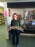 Sarah finishes second in the bridge building contest!
